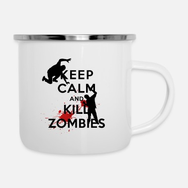 Keep Calm KEEP CALM ZOMBIE - Emaille mok
