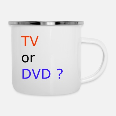 Dvd TV or DVD - Enamel Mug