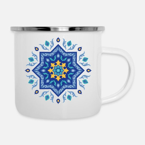 Star Mugs & Drinkware - spanish inspiration - Enamel Mug white