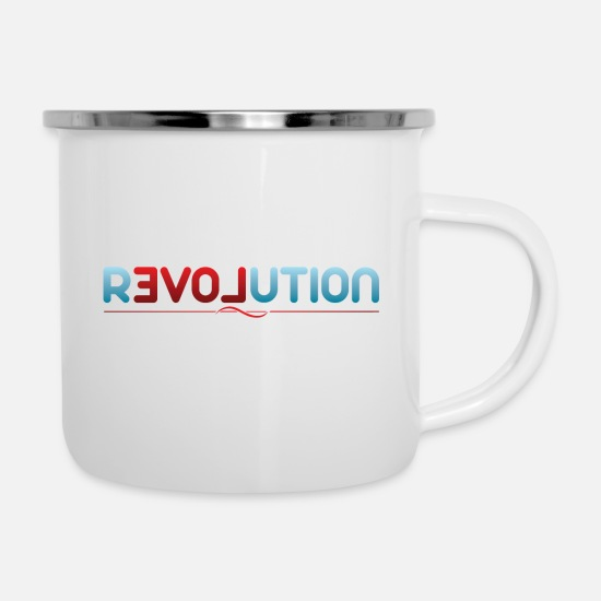 Love Mugs & Drinkware - Revolution love gift gift idea - Enamel Mug white