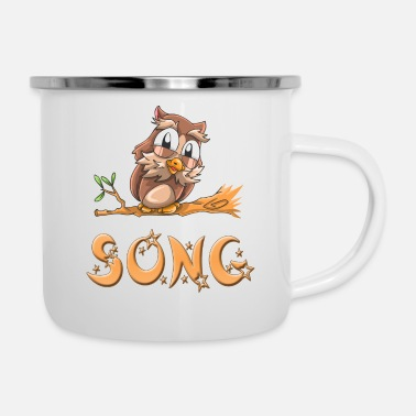 Song Eule Song - Emaille-Tasse