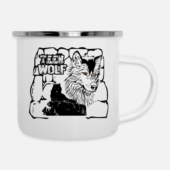 Wolf Mugs & Drinkware - Teen Wolf - the shirt for Wolf fans! - Enamel Mug white