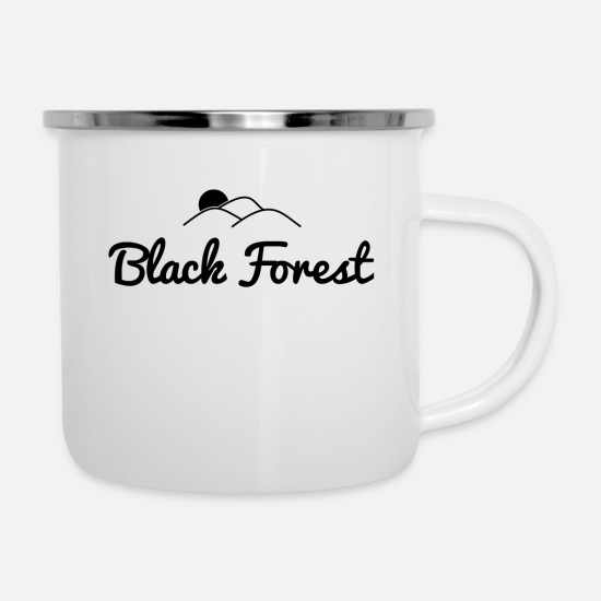 Gift Idea Mugs & Drinkware - Black Forest Black Forest - Enamel Mug white