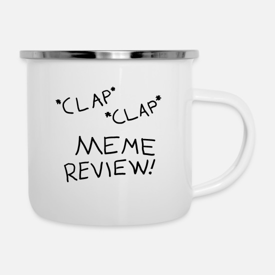 Meme Mugs & Drinkware - Meme Review - Enamel Mug white