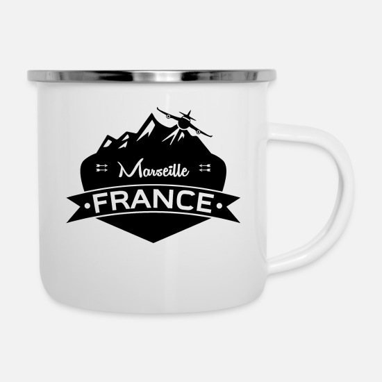 Marseille Mugs & Drinkware - Marseille France - Enamel Mug white