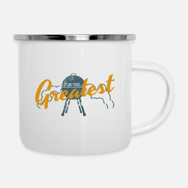 Grillwuerstchen Barbecue cook barbecue gift summer cooking meat - Enamel Mug