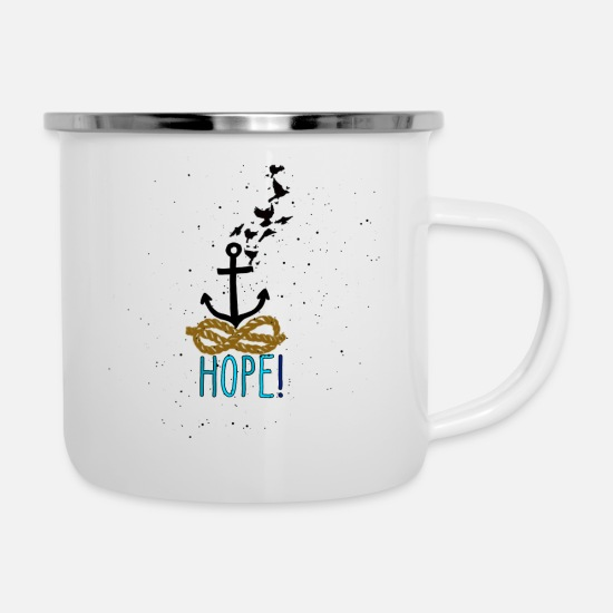Anchor Mugs & Drinkware - Anchor - Enamel Mug white