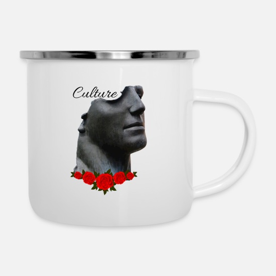 Culture Mugs & Drinkware - CULTURE - Enamel Mug white