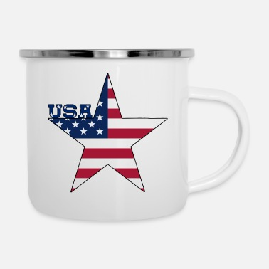 Usa USA Stern Flagge - Emaille-Tasse
