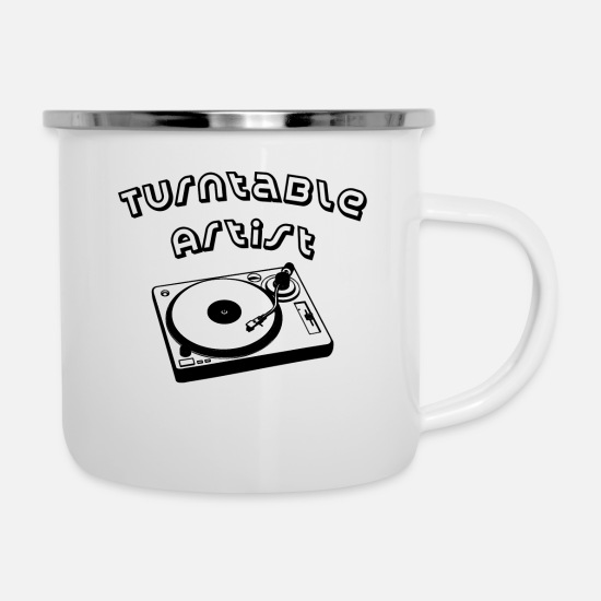 Bass Mugs & Drinkware - Turntable artist - Enamel Mug white