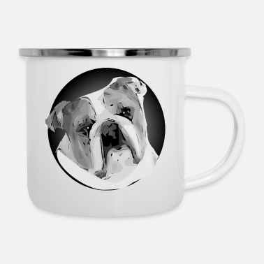 Bulldog bulldog - Tazza smaltata