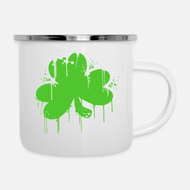 Shamrock Shamrock di graffiti - Tazza smaltata