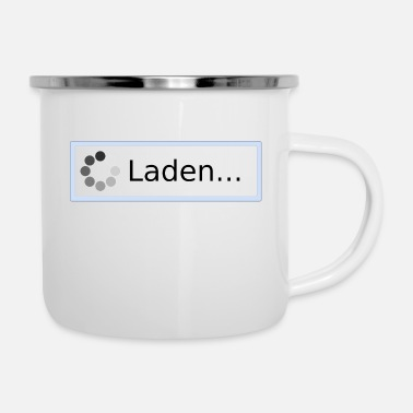 Laden Laden... - Emaille-Tasse