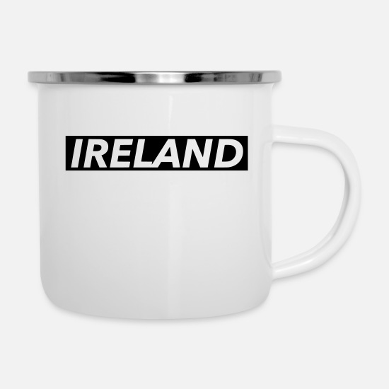 Ireland Mugs & Drinkware - ireland - Enamel Mug white