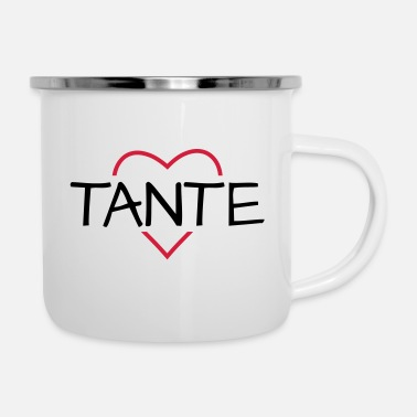 Tante Tante hart cadeau idee - Emaille mok