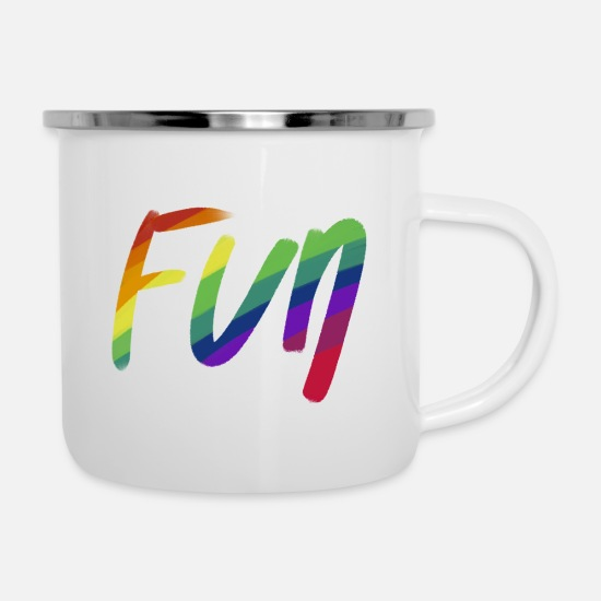 Funny Freeletics Mugs & Drinkware - fun - Enamel Mug white