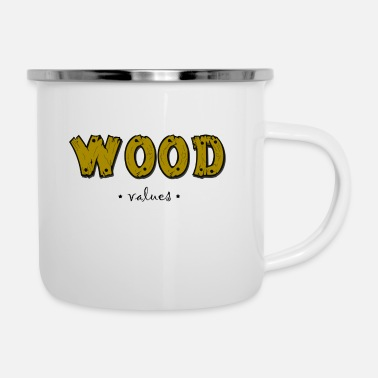Collections Wood Collection - Emaille-Tasse
