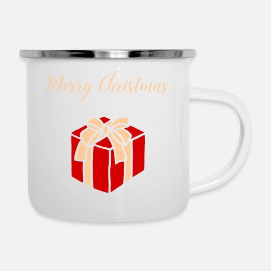 Birthday Mugs & Drinkware - Christmas Merry Christmas Gift - Enamel Mug white