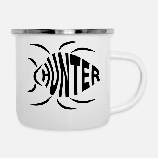 Coder Tassen & Becher - Bug Hunter - Emaille-Tasse Weiß