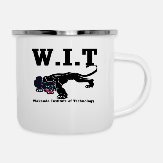 Africa Mugs & Drinkware - Wakanda Instiute of Technology - Enamel Mug white