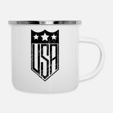 Usa USA Shield - Emaille mok