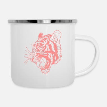 Tiger - Emaille-Tasse