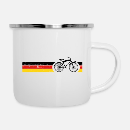 Tour Mugs & Drinkware - Bicycle National Colors National Germany Gift - Enamel Mug white