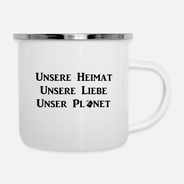 Planet Planet - Emaille-Tasse