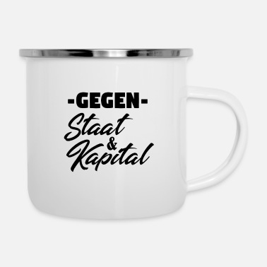 State Capital Against state and capital! - Enamel Mug