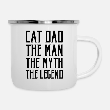 Dad The Man The Legend Cat Dad the Man The Myth The Legend Gift - Emaille mok