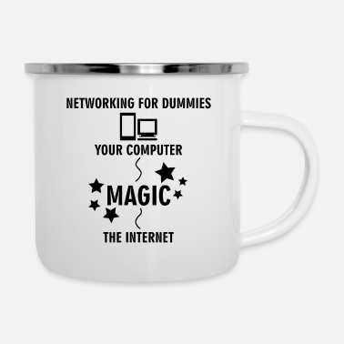 Bug Networking per Dummies Computer Magic dono - Tazza smaltata