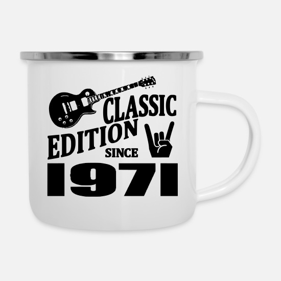 Established Mugs & Drinkware - Classic edition since 1971 - Enamel Mug white