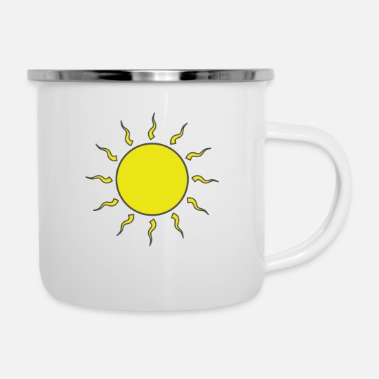 Set Mugs & Drinkware - Sun - Enamel Mug white