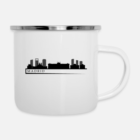 Business Tazze & Accessori - madrid skyline - Tazza smaltata bianco