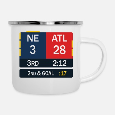 England New England Patriots Comeback in Superbowl 51 - Emaille-Tasse