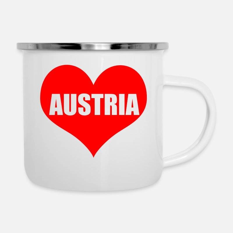 Love Mugs & Drinkware - austria heart - Enamel Mug white