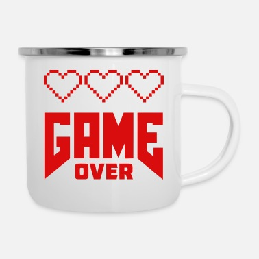 Game Over Geek Game Over Graphic - Emaljmugg
