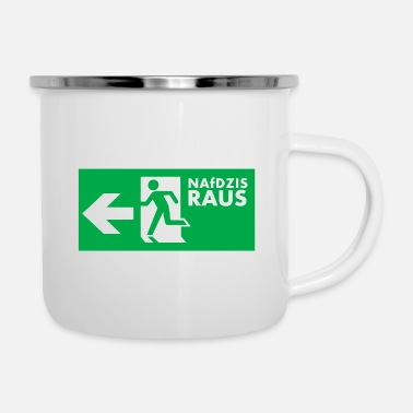 Refugees Welcome NAfDZIS Out - Enamel Mug