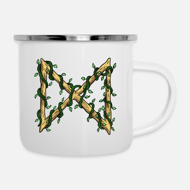 Viking Rune Dagaz - Tazza smaltata