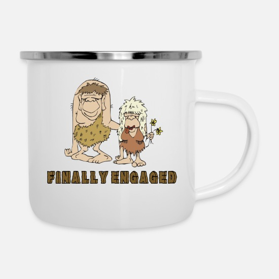 Engagement Mugs & Drinkware - Finally Engaged - Enamel Mug white