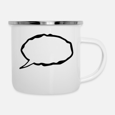Speech Balloon speech - Enamel Mug