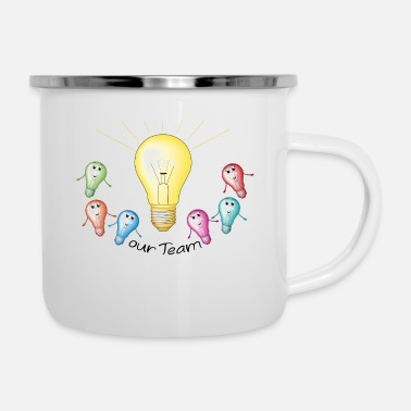 Group group bulb - Enamel Mug