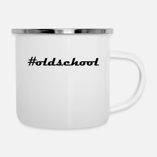 School Mugs & Drinkware - #old school - Enamel Mug white