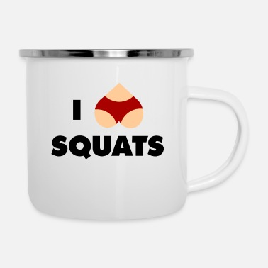 Squat squats - Enamel Mug