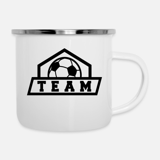 Gift Idea Mugs & Drinkware - Team Soccer Team Logo Association Gift Idea - Enamel Mug white