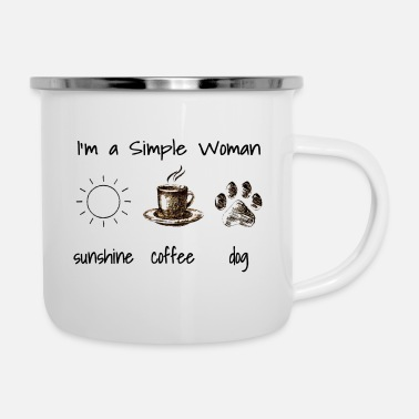 I'm a Simple Woman - Emaille-Tasse