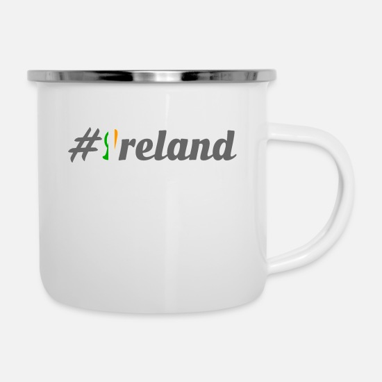 Northern Ireland Mugs & Drinkware - #Ireland - Enamel Mug white