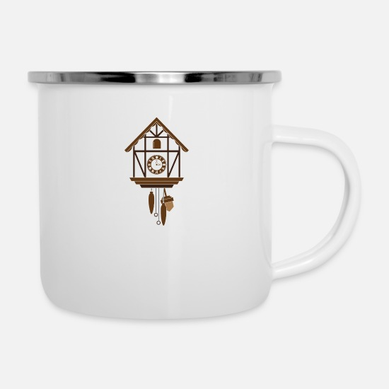 Black Forest Mugs & Drinkware - black forest Black Forest Cuckoo Clock Gengenbach - Enamel Mug white