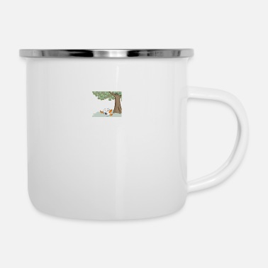 nocturnal sleep under the tree - Enamel Mug