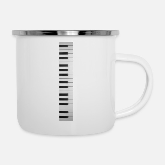 Keyboard Mugs & Drinkware - Keyboard keyboard - Enamel Mug white